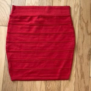 NWT red bodycon skirt